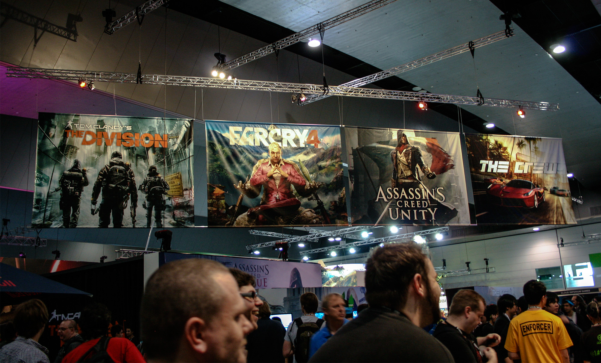 PAX Aus - Melbourne 2014 -  Poster above the Ubisoft booth