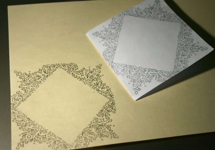 Commissioned Handmade Birthday Cards - Original Pattern and first tracing