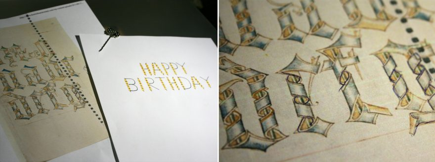 Dad's Birthday Card - Comparing to Original Reference