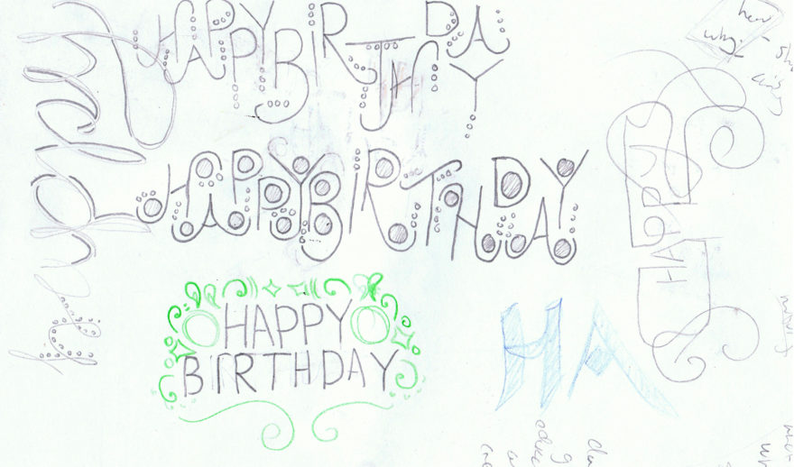 Sketchbook - More typography ideas for another card