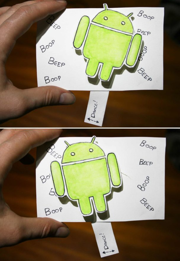 December birthday cards - android pull tab birthday card completed