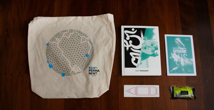 Semi-Permanent - Brisbane 2013 - The SP bag and its contents
