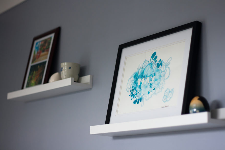 6 month catch-up - wall decor, illustration by Natalie Perkins