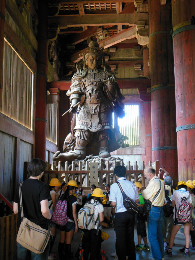 Japan Trip 2013 - One of the statues inside Todaiji Temple in Nara