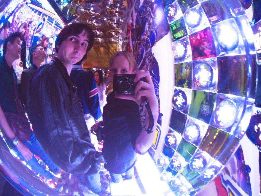 Japan Trip 2013 - Walking down into the Robot Restaurant Stage Area in Shinjuku