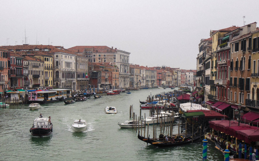 Venice - view from the Rialto bridge