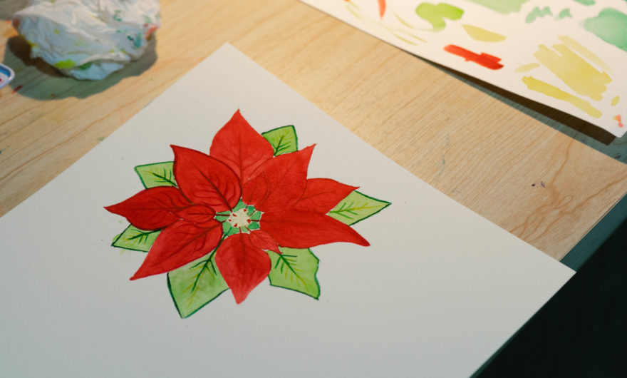 Flower design completed for painting