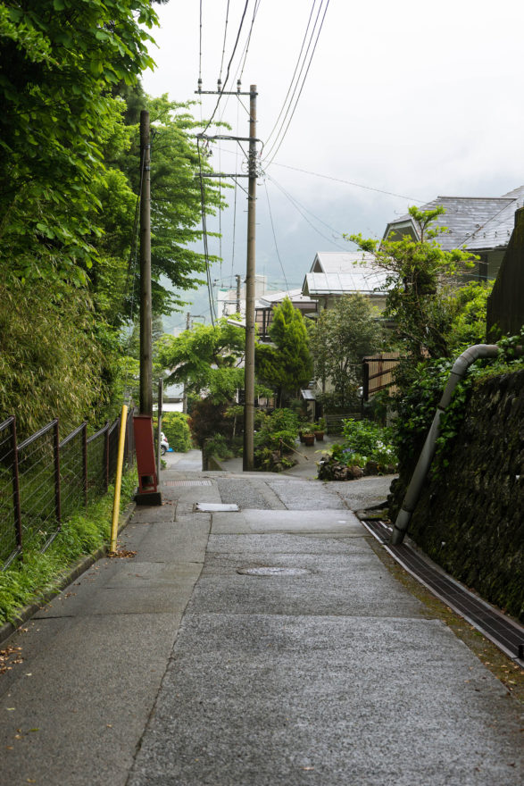 Walking to the hotel - Hakone, Japan