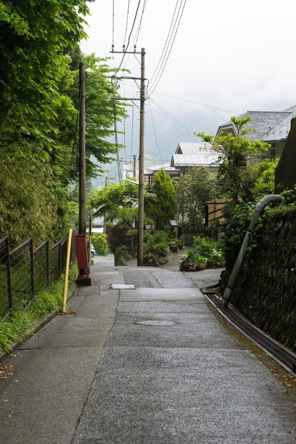 Walking to the hotel - Hakone, Japan