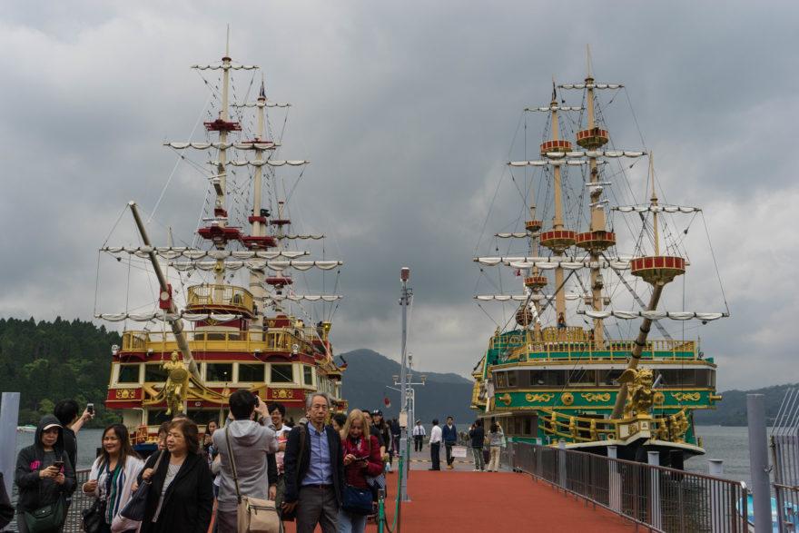 Lake Ashi Pirate Ships - Hakone, Japan