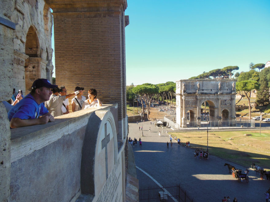 Rome - looking out from the Colosseum