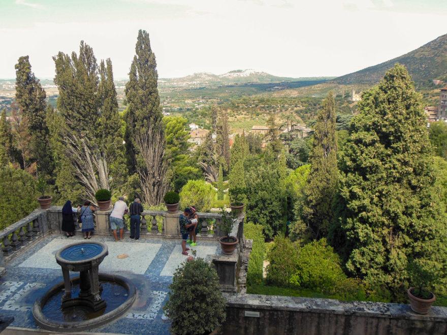 Italy - Tivoli fountains and gardens in Villa d'Este