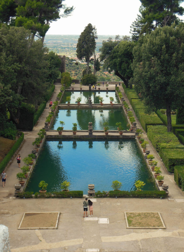 Italy - Tivoli fountains and gardens in Villa d'Este