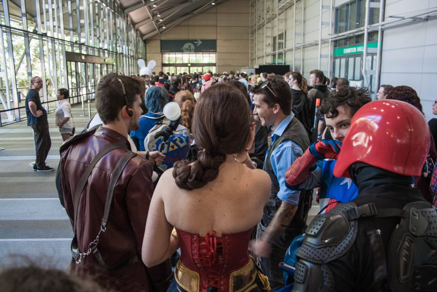 Oz Comic Con Brisbane 2015 - Waiting in Line