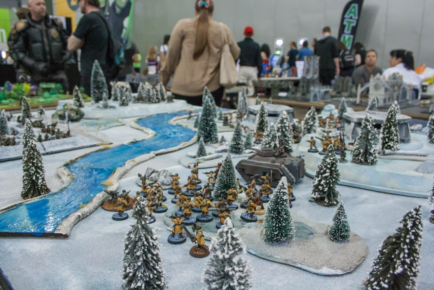 Oz Comic Con Brisbane 2015 - Warhammer table