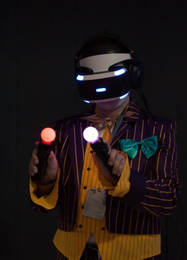 PAX Aus 2016 - Someone playing with the Playstation VR