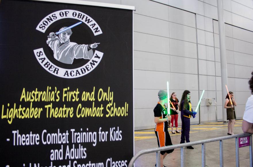 Supanova Brisbane 2016 - Light saber training
