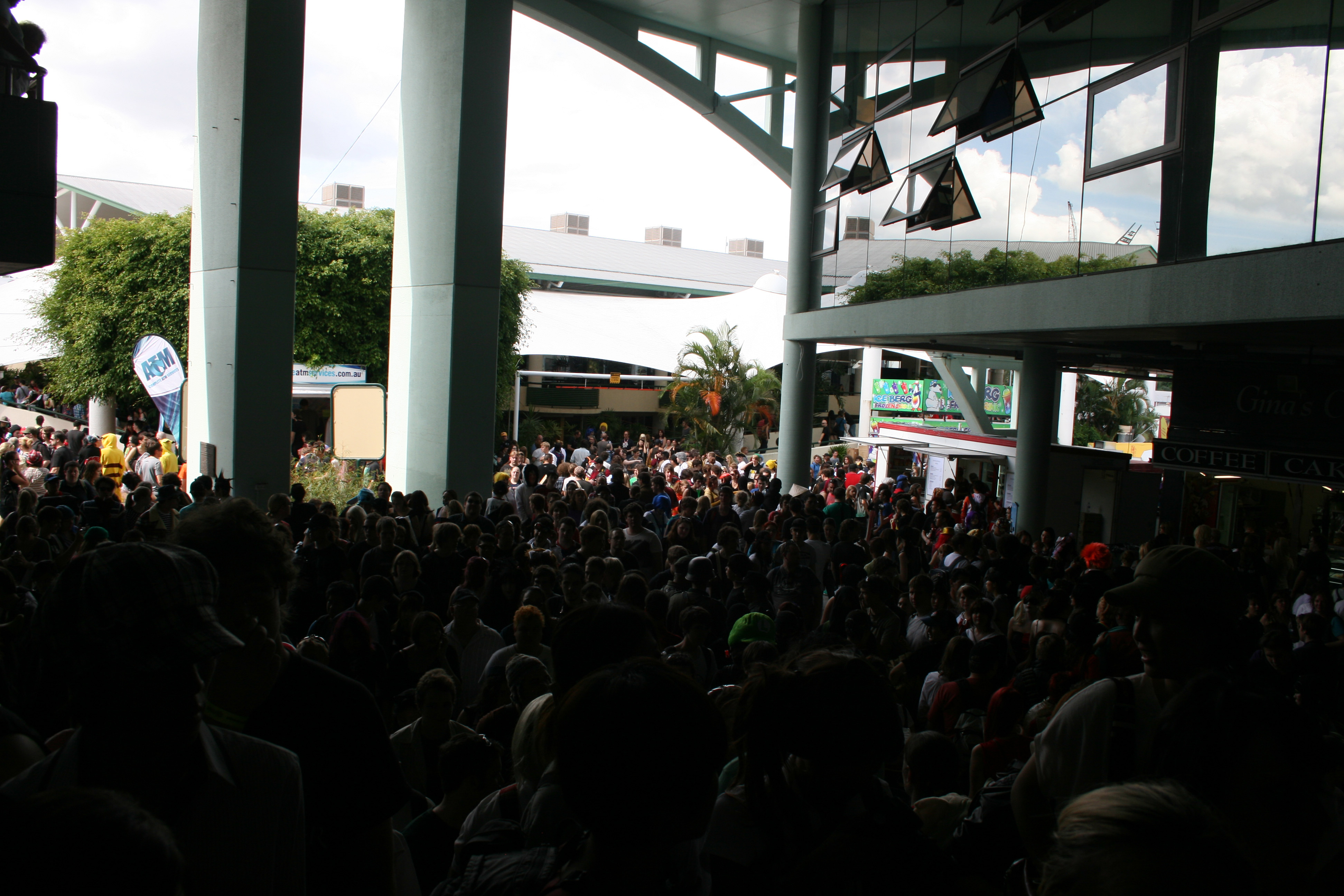 People Outside the RNA showgrounds